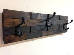 wooden wall mounted coat hooks rack in hanger design 14