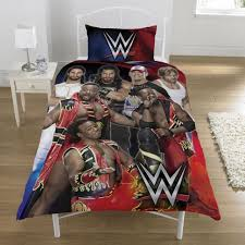 wwe super 7 single duvet cover set kids s bedding wrestlers official new