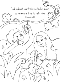Small Picture Bible Key Point Coloring Page Adam and Eve Online Preschool