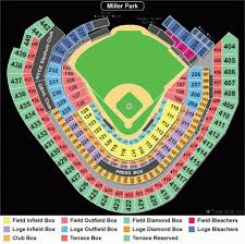 Seat Number Brewers Seating Chart Miller Park Seating Chart Seating Chart