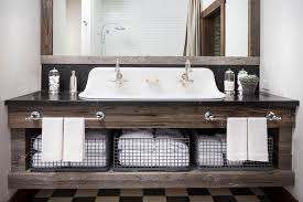 top reclaimed wood double vanity wb designs within distressed in bathroom remodel 1