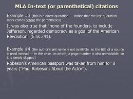 Ppt Mla In Text Or Parenthetical Citations Powerpoint