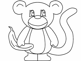 Monkey Coloring Pages For Toddler Coloringstar
