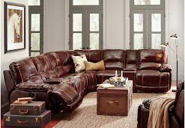 Image Black Cindy Crawford Home Van Buren Burgundy Pc Leather Sectional Living Room Sets burgundy Rooms To Go Cindy Crawford Home Van Buren Burgundy Pc Leather Sectional