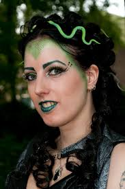 extreme look medusa makeup with sugarpill outfit pics hair