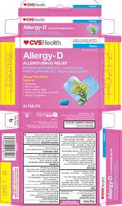 Benadryl D Dosage Chart Allergy D Tablet Cvs Pharmacy