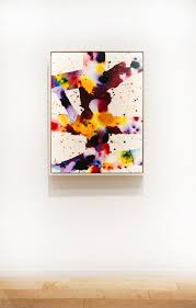 a work by sam francis from 1973 acrylic and oil on canvas
