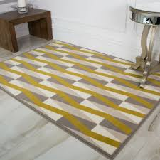 ochre grey taupe chevron art deco print living room area rug large small rugs