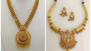 South Indian Traditional Gold Earrings Designs South Indian Traditional Gold Necklace Designs