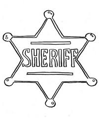Small Picture Picture of Sheriff Badge Coloring Page Coloring Sky