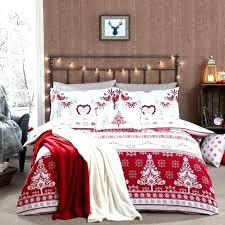 holiday duvet covers bedding red and black flannel sheets bedroom decor bed linen a