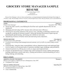 Supermarket Manager Resumes Supermarket Manager Resume Emelcotest Com
