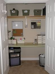office closets. Closet Office Ideas. Surprising Freestanding Table With Walnut Floating Shelf As Decorate Small Closets .