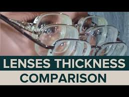 1 To 20 Glasses Thickness Comparison
