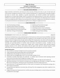 Objective For Resume Retail Classy Resume Retail Management Resume Objective Examples Associate