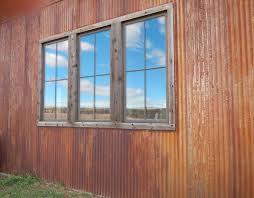 rusted corten weathering metal roof