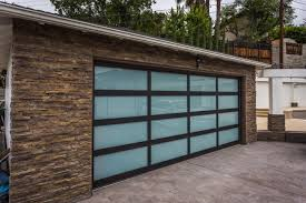 Black Frames Laminate Glass Garage Door
