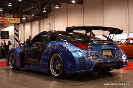 nissan 350z modified blue. Simple Blue Modified 2005 Nissan 350Z At 2009 SEMA To 350z Blue
