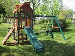 wooden playsets with gorilla swing sets