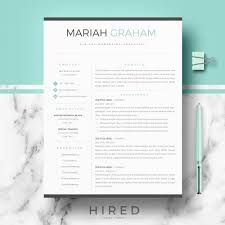 How Many Pages Is A Modern Resume R22 Mariah Graham Professional Resume Template For Word Pages Modern Resume Design Cv Template Cover Letter References Page Resume