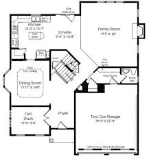 Home Floor Plan Template  Building Core  Vector Stencils Library Floor Plans With Stairs