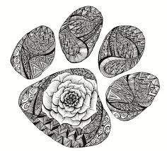 Awesome Paw Print Crafts Doodle Coloring Cool Coloring Pages