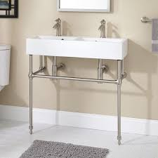 Image Bathroom Sinks 335x13 Not Sure How Youd Wash Your Face Though Clagondouble Consolesinkwithbrassstand Pinterest 335x13 Not Sure How Youd Wash Your Face Though Clagon