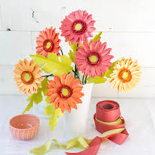Paper Flower Kit Video Tutorial New Gerbera Daisy Frosted Paper Flower Kit