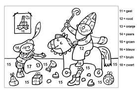 Kleurplaten Met Cijfers 11 Tm 18 Thema Sinterklaas Crafts For