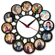 round photo frame wall clock frame