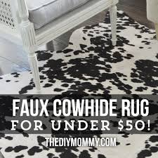 diy faux cowhide rug for under 50