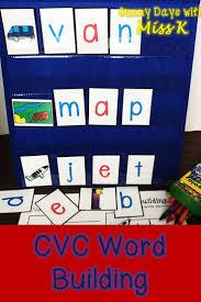 Cvc Word Building Pocket Chart Cards Word Work Pocket