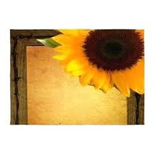 sunflower rugs for kitchen western country rustic sunflower rug by admin kitchen area rugs round fantasy