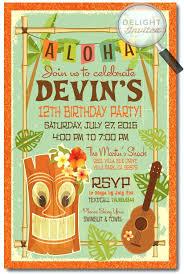 Hawaiian Pool Party Invitations Hawaiian Party Invitations Paradise At Sunset Interracial Mixed Race