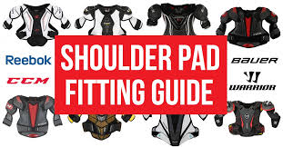 Youth Hockey Shoulder Pads Size Chart Shoulder Pad Fitting Guide For Hockey