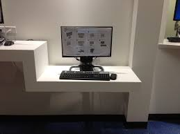 modern floating desk