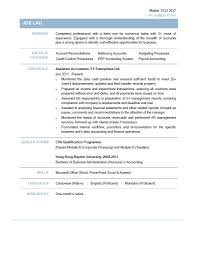Accounting Assistant Cv Template Resume Papers