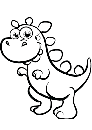 Huge collection of dinosaur coloring pages. Easy Cartoon Dinosaur Coloring Pages Print Color Craft Printable Fun For Madalenoformaryland