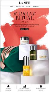 receive a free 4 piece bonus gift with your 300 la mer purchase