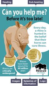 bbc bitesize ks english analysing persuasive texts revision  charity leaflet for rescue our rhinos the heading can you help me