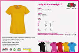 Fruit Of The Loom Lady Fit Size Chart Custom T Shirt Design Your Own T Shirt T Shirt Printing