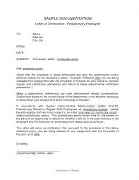 Employee Termination Letter Template Free Interesting Format Of Termination Letter Employee Frightening Filetype Doc