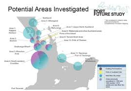 Future Port Location Shortlist Greater Auckland