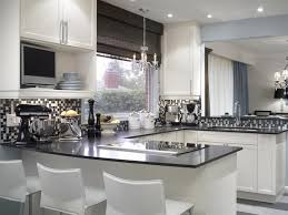 black and white kitchen design pictures. gray and white kitchen: the mosaic glass tile backsplash is stunning! designed by hgtv\u0027s black kitchen design pictures