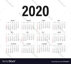 One Sheet Calendar 2020 Calendar 2020 Template Calendar Mockup Design In