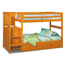 Zoom Room Bed Reviews Ranger Twin Over Twin Bunk Bed With Storage Stairs Trundle