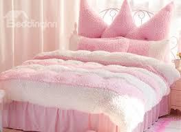 73 romantic color block 4 piece velvet bedding sets duvet cover