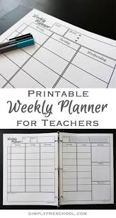 Teacher Weekly Planners Free Printable Weekly Lesson Planner Includes Goals To Do List