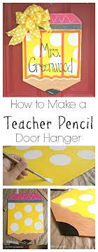 Personalized Teacher Pencil Door Hanger | Pencil door hanger ...