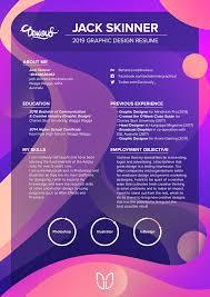 graphics design resumes 2019 graphic design resume on behance